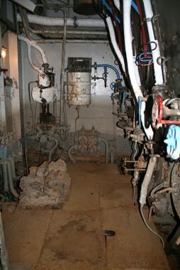 The boiler room.