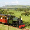 No.4 Edward Thomas ex-Corris Railway locomotive hauling a train towards Brynglas on the Talyllyn Railway.