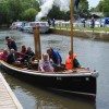 Falcon, our Victorian Steam Launch returns to the Museum.