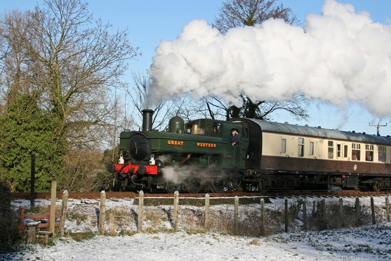 Loco No. 1369 on Santa Duty on the Chinnor Railway