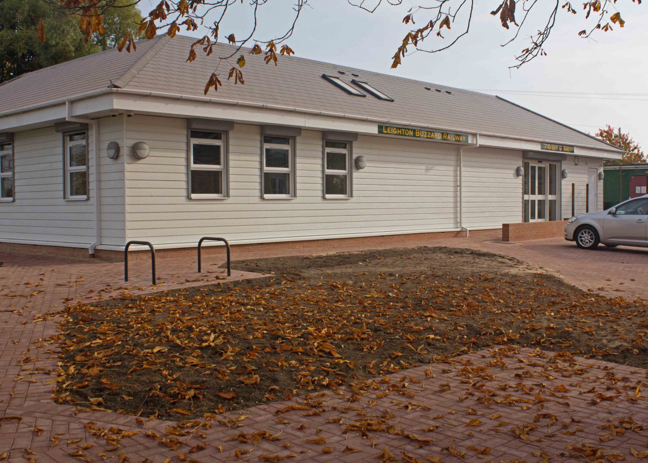 The smart new station building at Page's Park