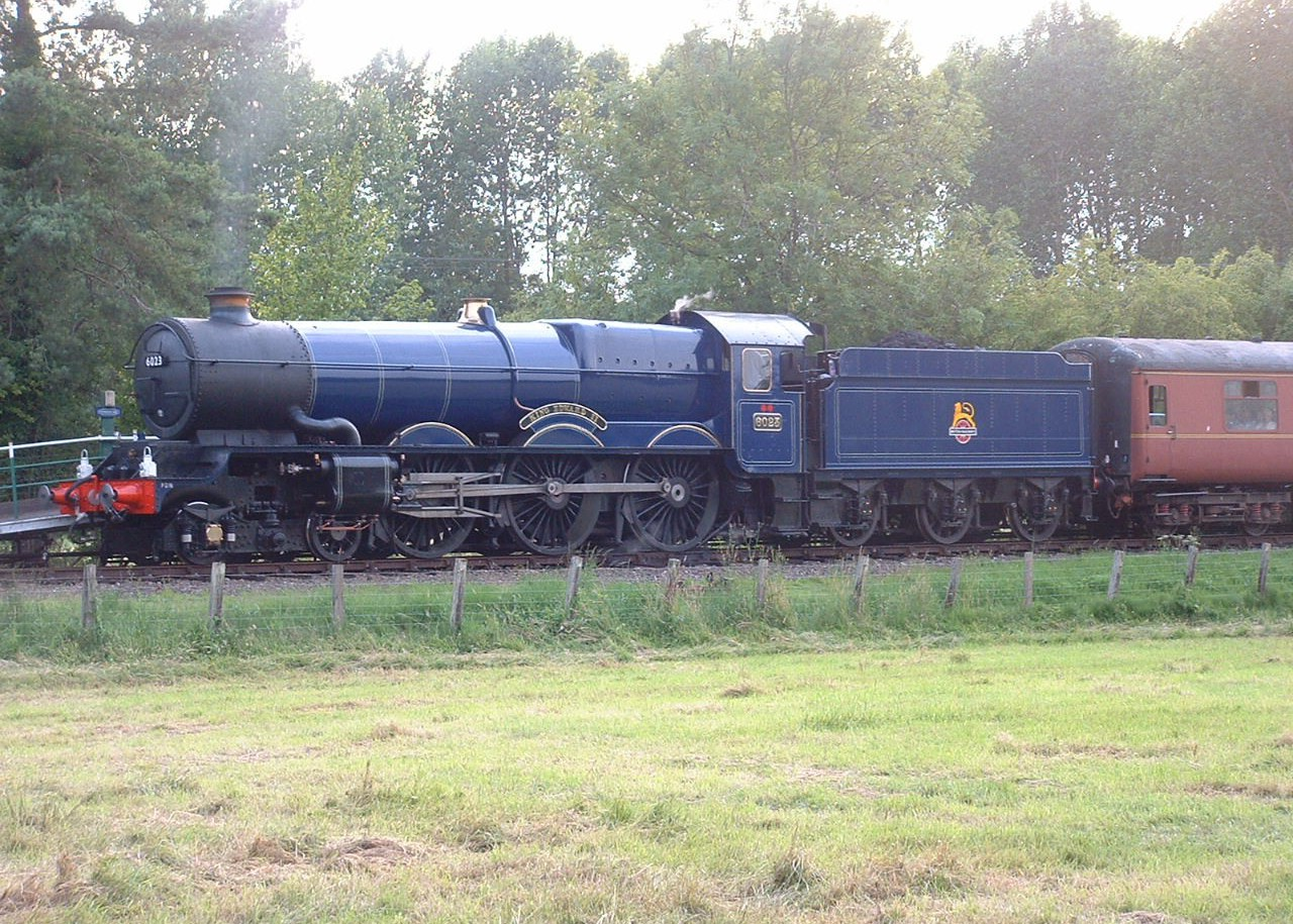 Great Western Railway 4-6-0 'King Edward II' visited the line for running-in trials after it's restoration in 2011.