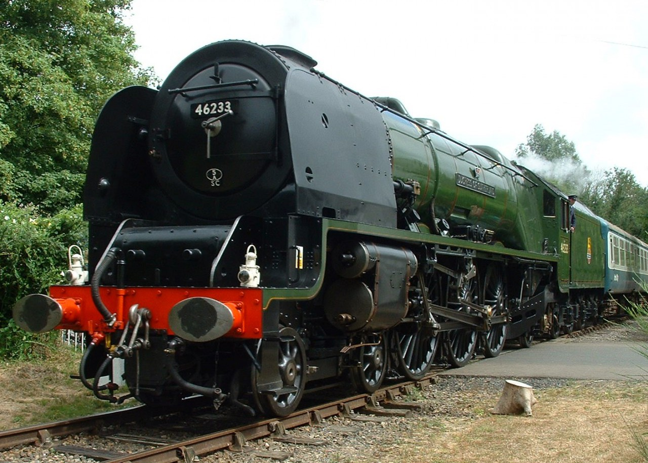 LMS Pacific 'Duchess of Sutherland' visited the MNR in 2013.