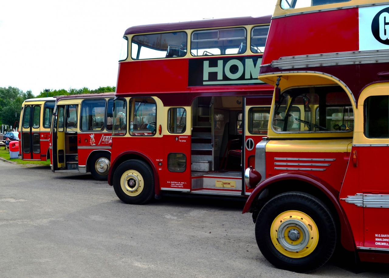Buses on Display at Ruddington Fields