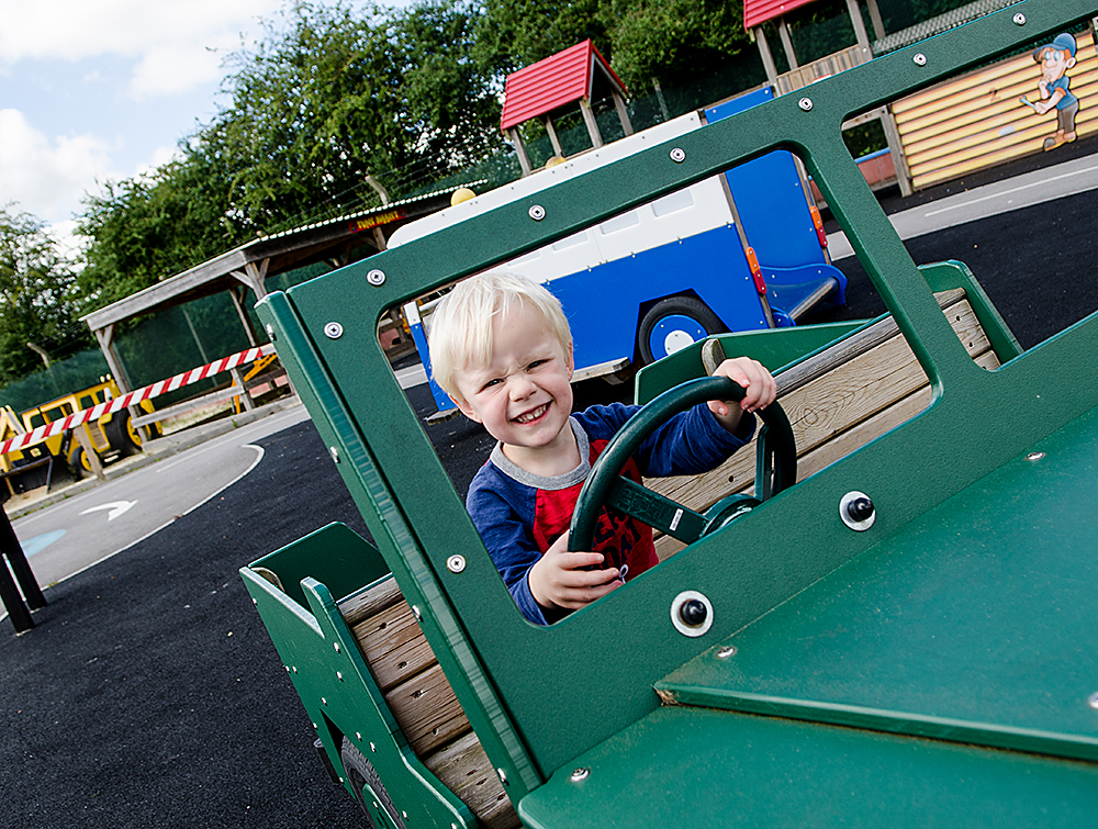 Haynes Motorland at Haynes International Motor Museum. Fun for all in the outside play area.