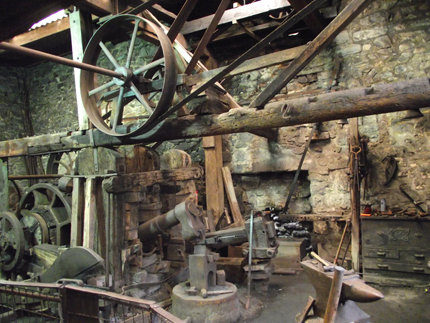 The 'Foundry' is actually a forge opened in 1814 by the Finch family.