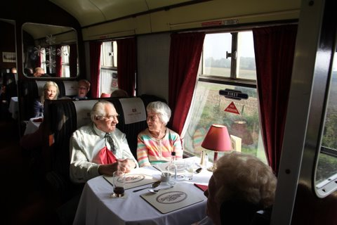 You can dine in luxury in the newly restored Mendip Belle.