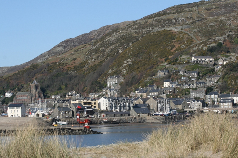 Barmouth Harbour seen from Barmouth Ferry station
