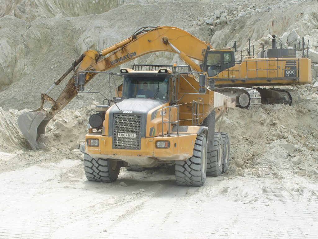 Modern China Clay mining in action