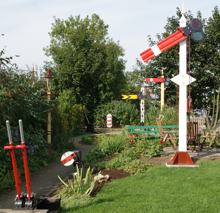 View of garden with some of the working signals