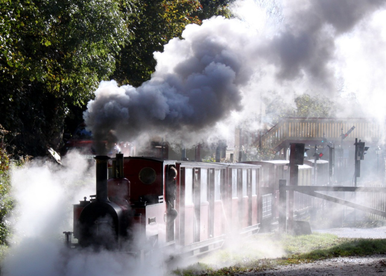 Steam to spare on leaving Rudyard