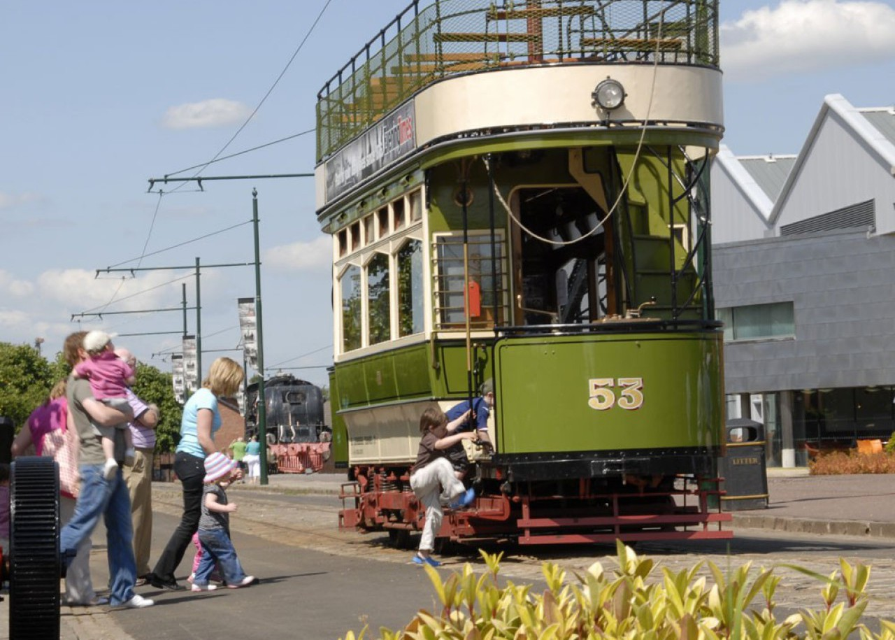 Summerlee - Busy day for the tram.
