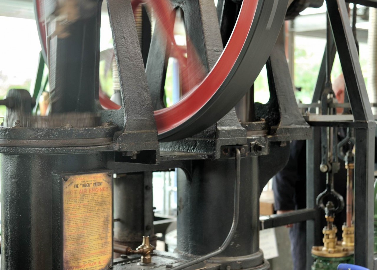 The Museum is a centre of excellence for hot-air engine enthusiasts - here we see a ½ hp Hayward Tyler engine from 1890