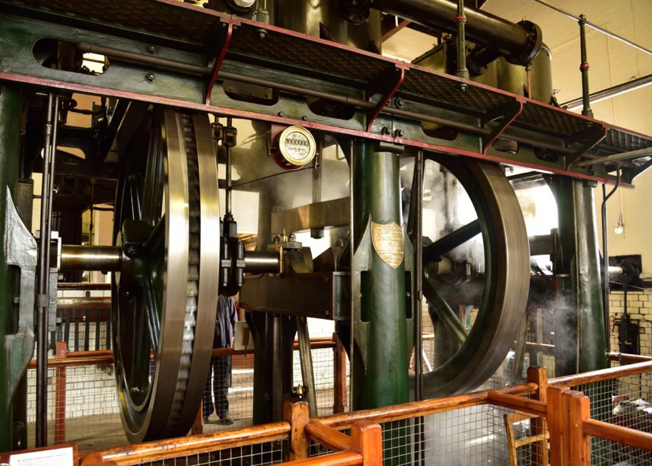 The enormous (IMechE EHA award winning) triple expansion steam engine (Worth McKenzie - 1895) is what all visitors come to see.