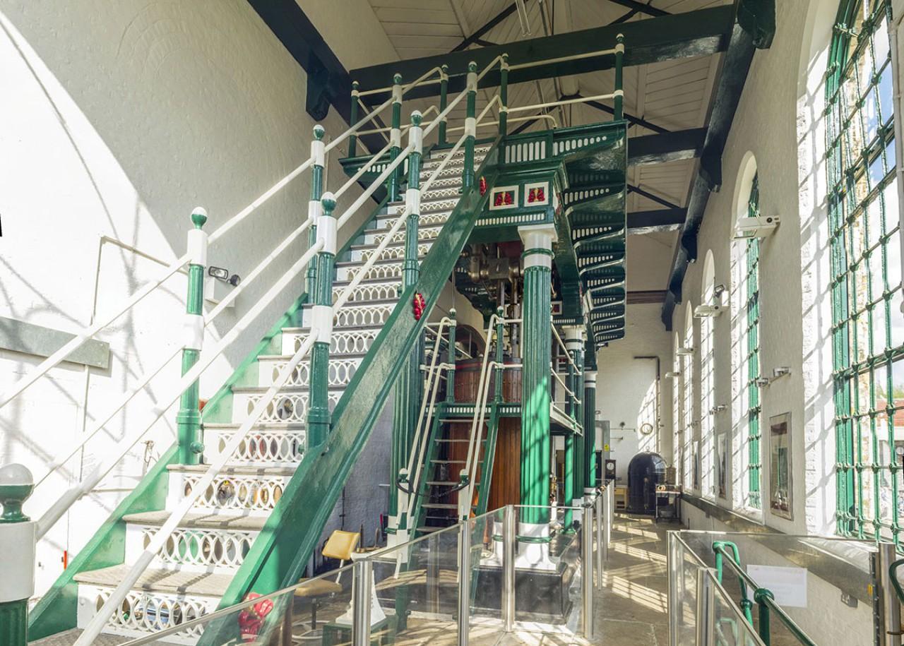 Stairway to the Beam Walkway
