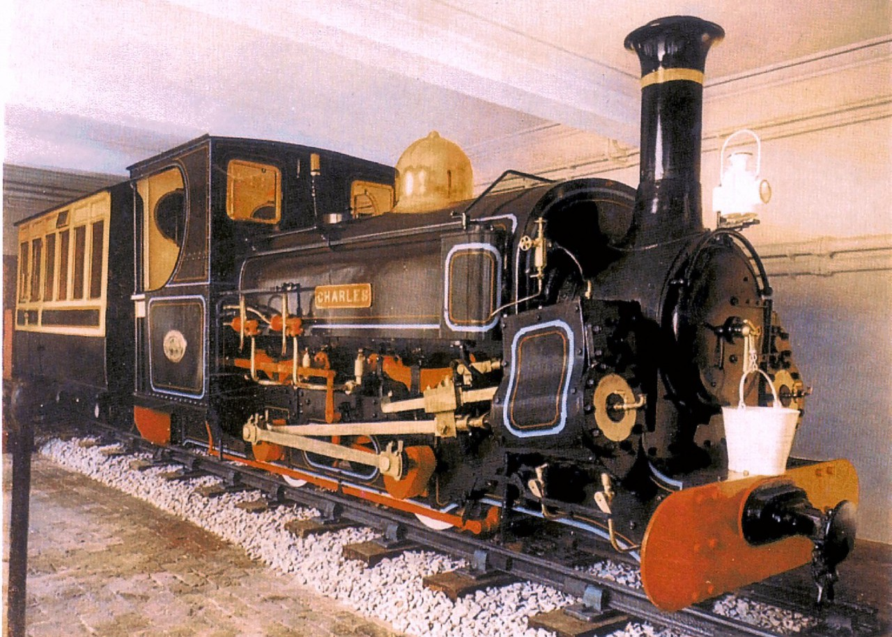 'Charles' is a 1ft 10¾in. gauge 0-4-0 Saddle Tank locomotive.