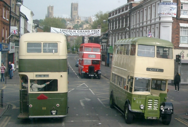 Museum and guest buses in action at Museum 'Open Day' event