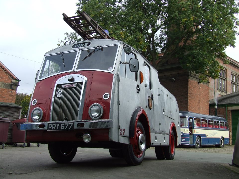One of the museum's fire engines, a Dennis F8.
