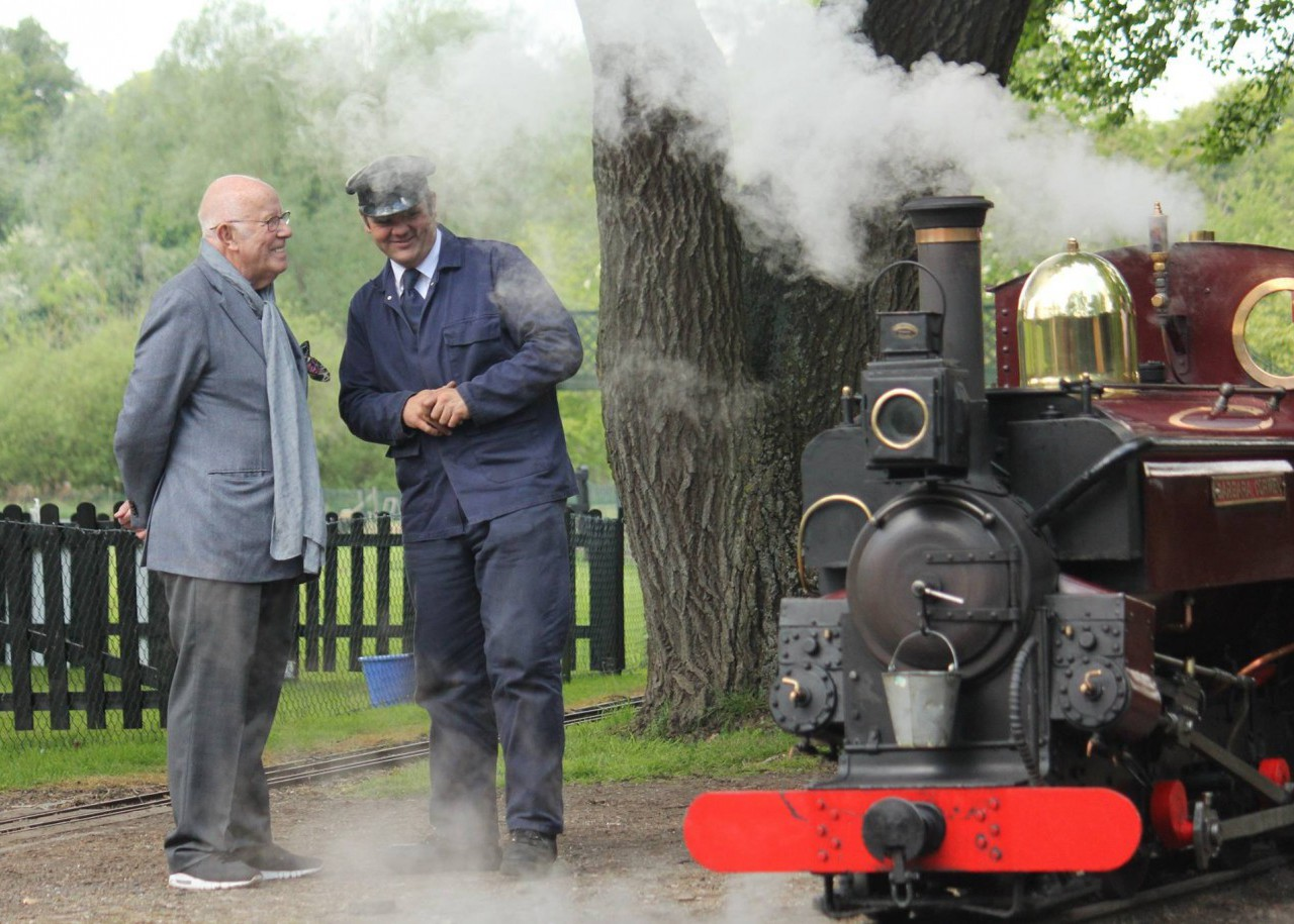 Richard Wilson visiting the Railway