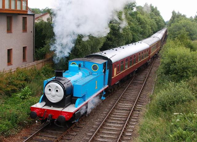 Thomas entering Brechin Station