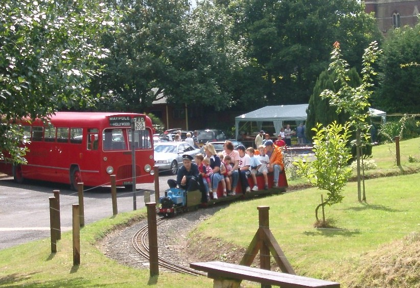 Miniature train also runs on bank holidays and other event days