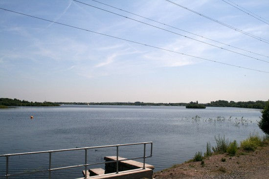 The lake at Chasewater Country Park is a man-made reservoir for the local canal.