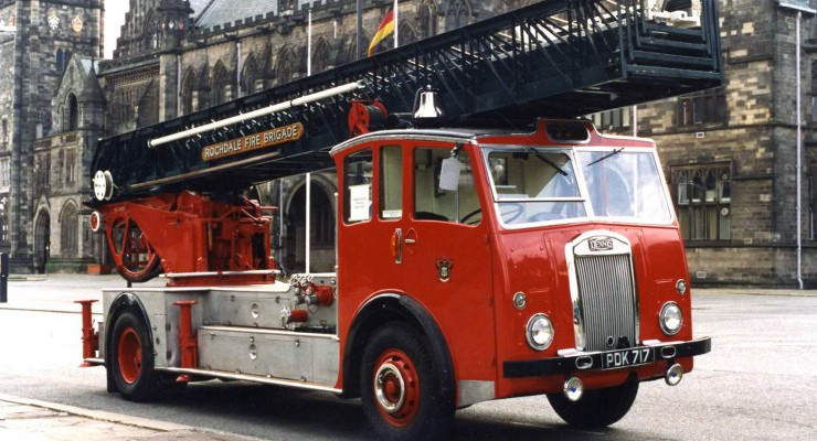 1957 Dennis F21/Metz 125ft Turntable Ladder, ex-Rochdale Fire Brigade
