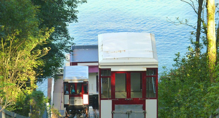 Carriages on Babbacombe Cliff Railway