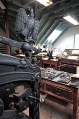 The Caseroom at Smail's and the beautiful and ornate Columbian Eagle Press.