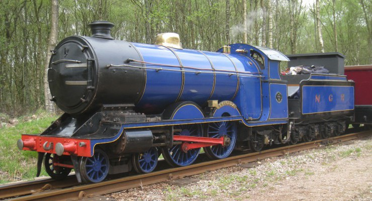 'Synolda', the museum's flagship locomotive and identical sister of 'Sans Pareil' which ran at 'La'al Ratty' 100 years ago
