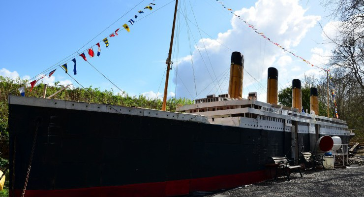 Titanic model at Ship Space Inverness