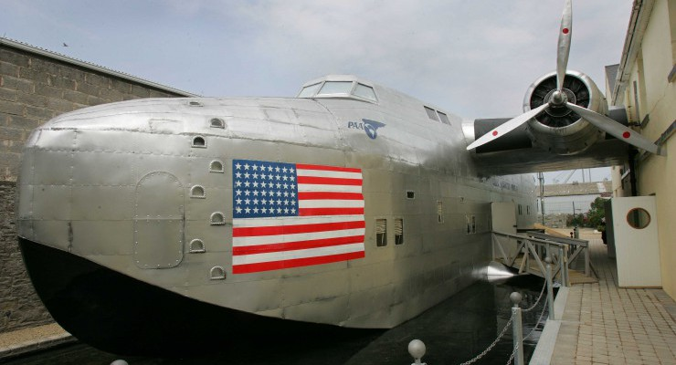 World's only replica of a B314 flying boat 'Yankee Clipper'.