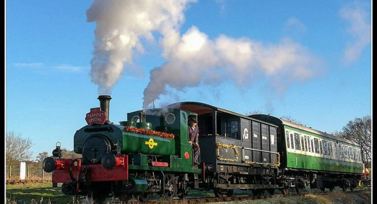 'Lord Fisher' on a Santa train