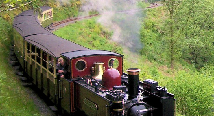 No. 9 Prince of Wales above Rheidol Falls